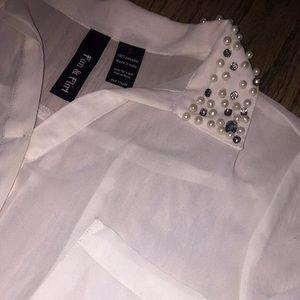 Fun and flirt collared shirt
